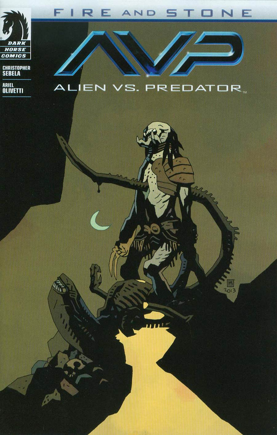 Alien vs Predator Fire And Stone #1 Cover B Variant Mike Mignola Cover