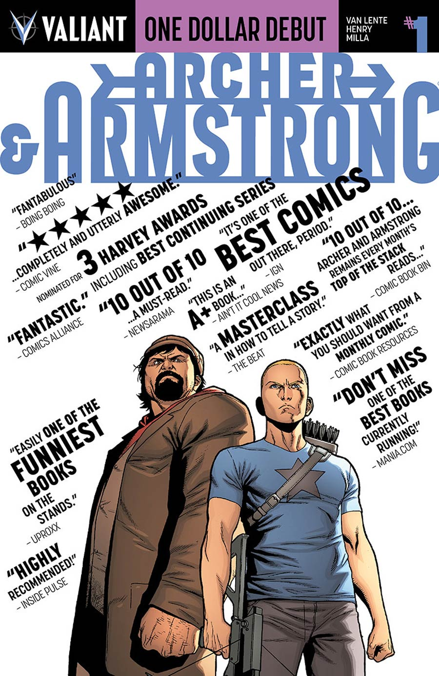 Archer & Armstrong Vol 2 #1 Cover K One Dollar Debut Edition New Printing