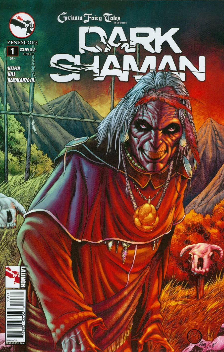 Grimm Fairy Tales Presents Dark Shaman #1 Cover B Variant Marat Mychaels Cover