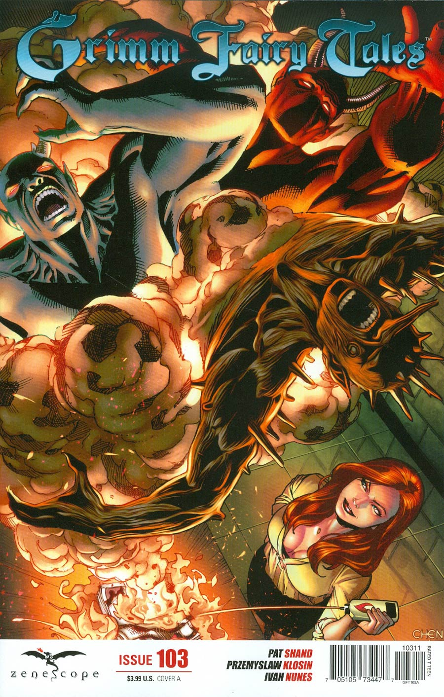 Grimm Fairy Tales #103 Cover A Sean Chen (Age Of Darkness Tie-In)