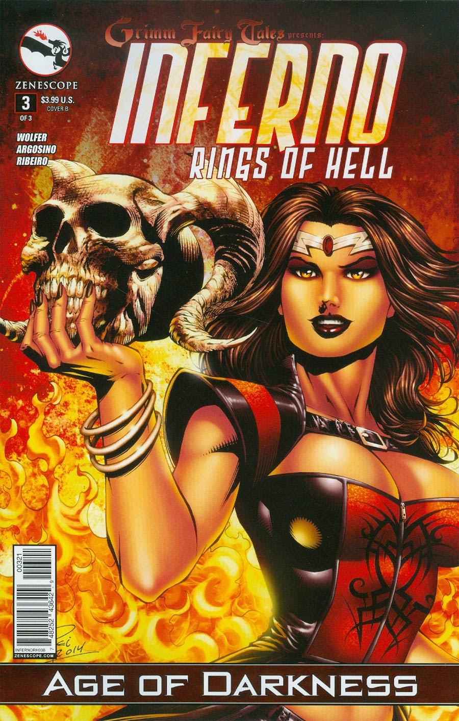 Grimm Fairy Tales Presents Inferno Rings Of Hell #3 Cover B Renato Rei (Age Of Darkness Tie-In)