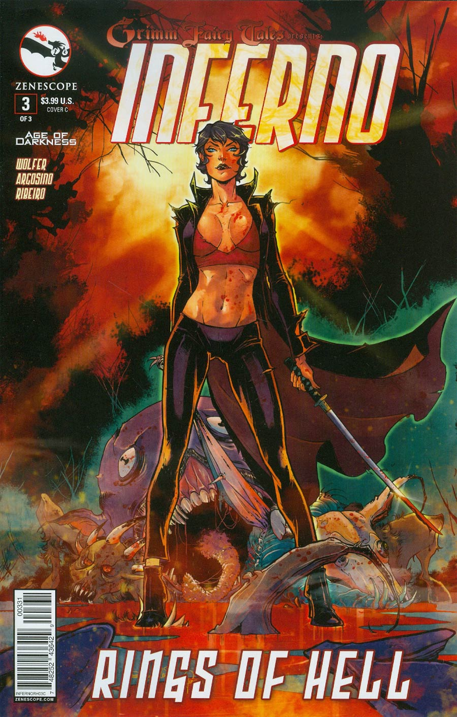 Grimm Fairy Tales Presents Inferno Rings Of Hell #3 Cover C Tina Valentino (Age Of Darkness Tie-In)