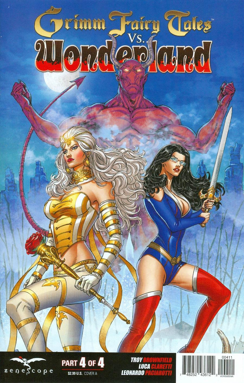 Grimm Fairy Tales vs Wonderland #4 Cover A Abhishek Malsuni