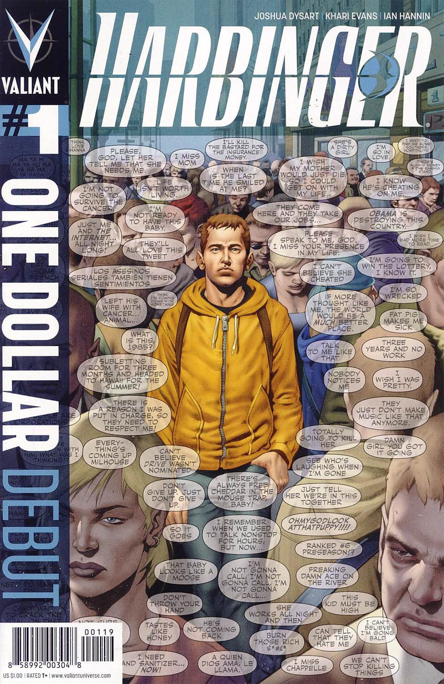 Harbinger Vol 2 #1 Cover G One Dollar Debut Edition New Printing