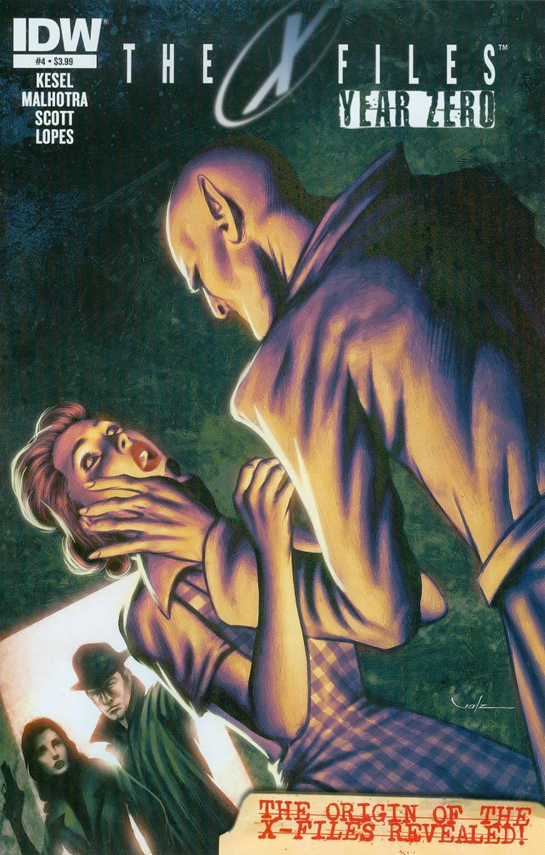 X-Files Year Zero #4 Cover A Regular Carlos Valenzuela Cover