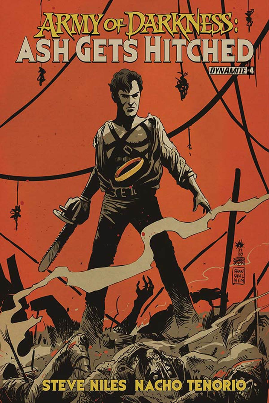 Army Of Darkness Ash Gets Hitched #4 Cover B Variant Francesco Francavilla Cover