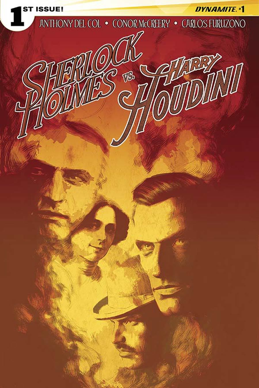 Sherlock Holmes vs Harry Houdini #1 Cover B Variant Aaron Campbell Cover