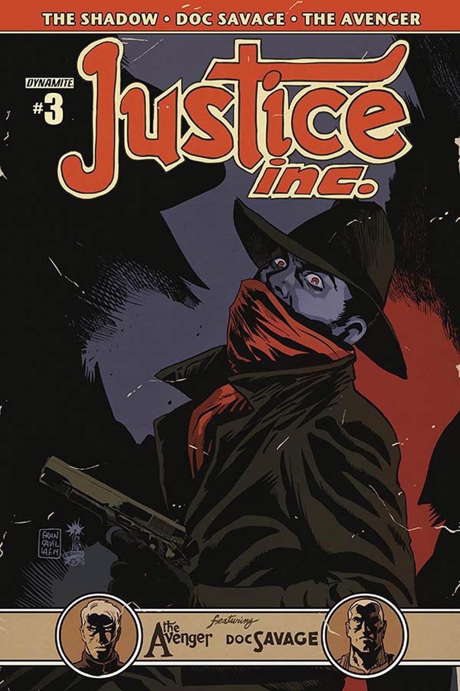 Justice Inc Vol 3 #3 Cover B Variant Francesco Francavilla Cover