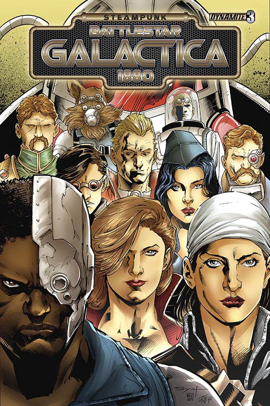 Steampunk Battlestar Galactica 1880 #3 Cover A Regular Ardian Syaf Cover