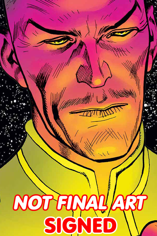 Sinestro Futures End #1 Cover C 3D Motion Cover Signed By Cullen Bunn