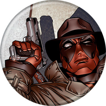 Marvel Comics 1.25-Inch Button - Deadpool With Hat And Gun (83030)
