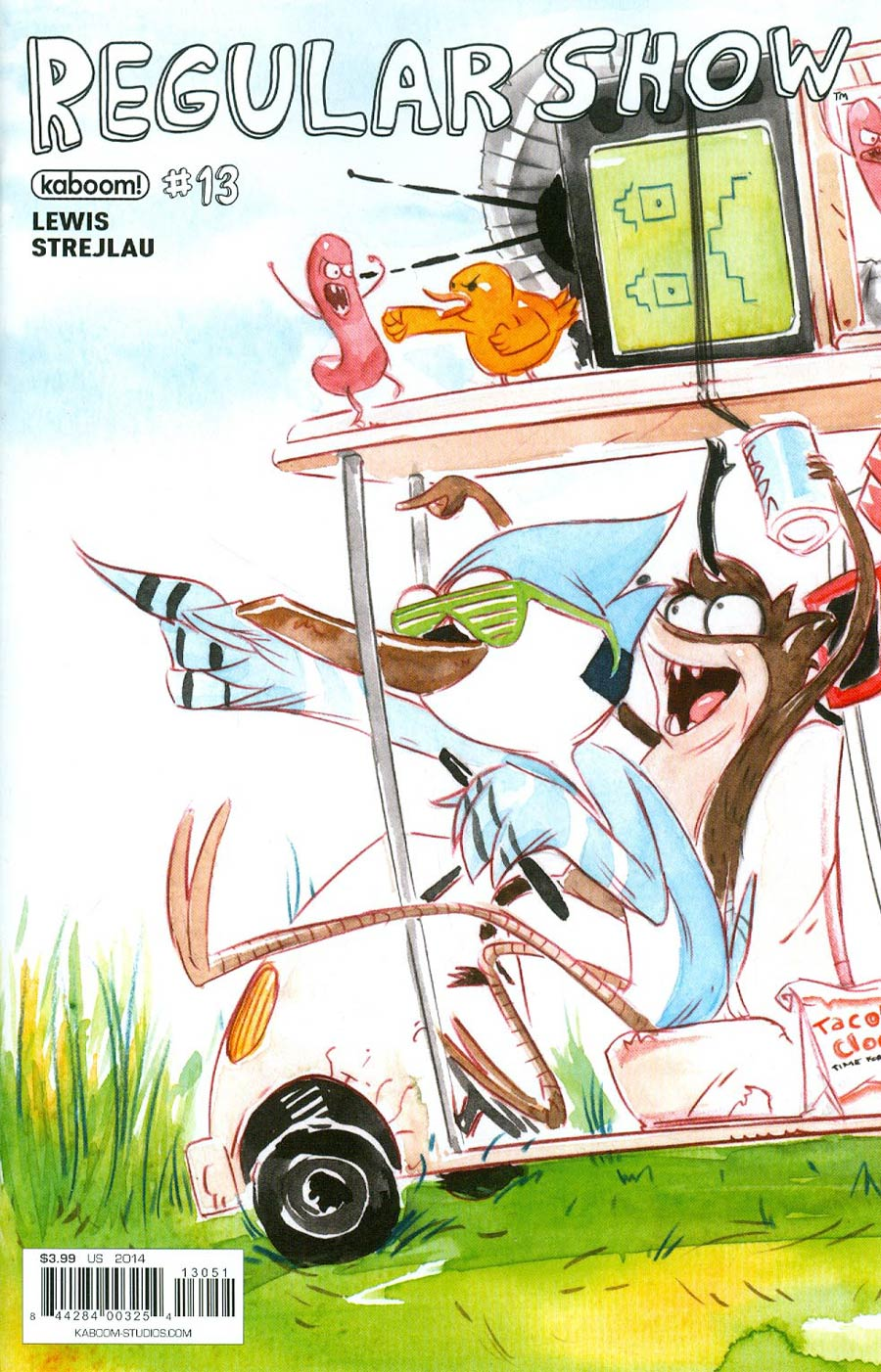 Regular Show #13 Cover C Variant Andy Hirsch Connecting Cover (1 Of 4)