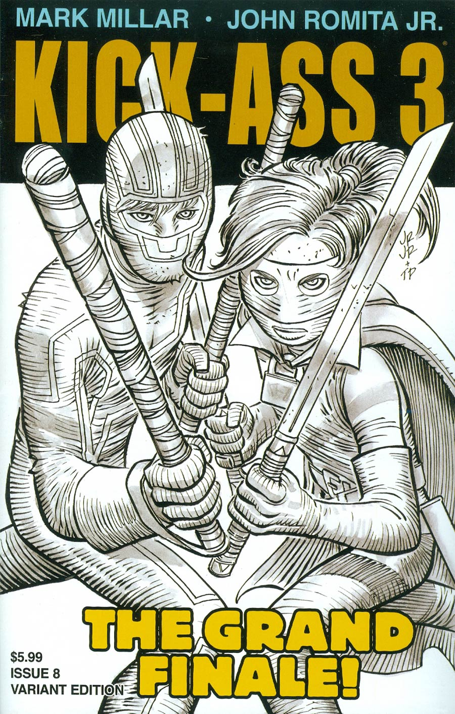 Kick-Ass 3 #8 Cover B Incentive John Romita Jr Sketch Cover