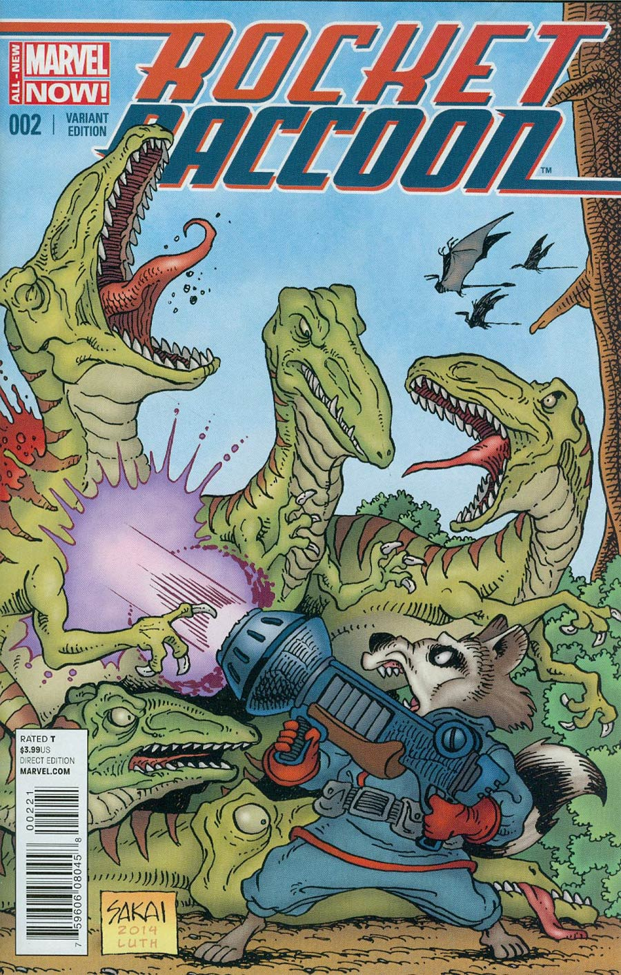 Rocket Raccoon Vol 2 #2 Cover B Incentive Stan Sakai Variant Cover
