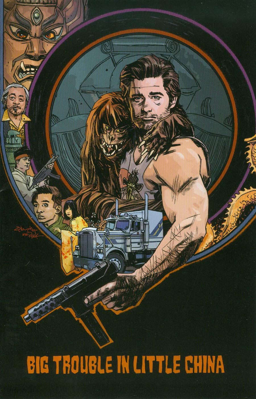 Big Trouble In Little China #3 Cover C Incentive Tommy Lee Edwards Variant Cover
