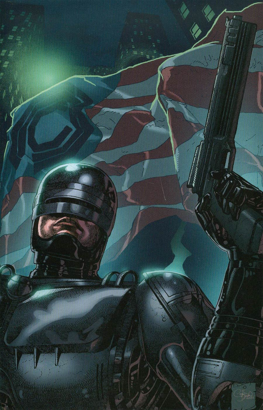 Robocop 2014 #2 Cover B Incentive Carlos Magno Virgin Variant Cover