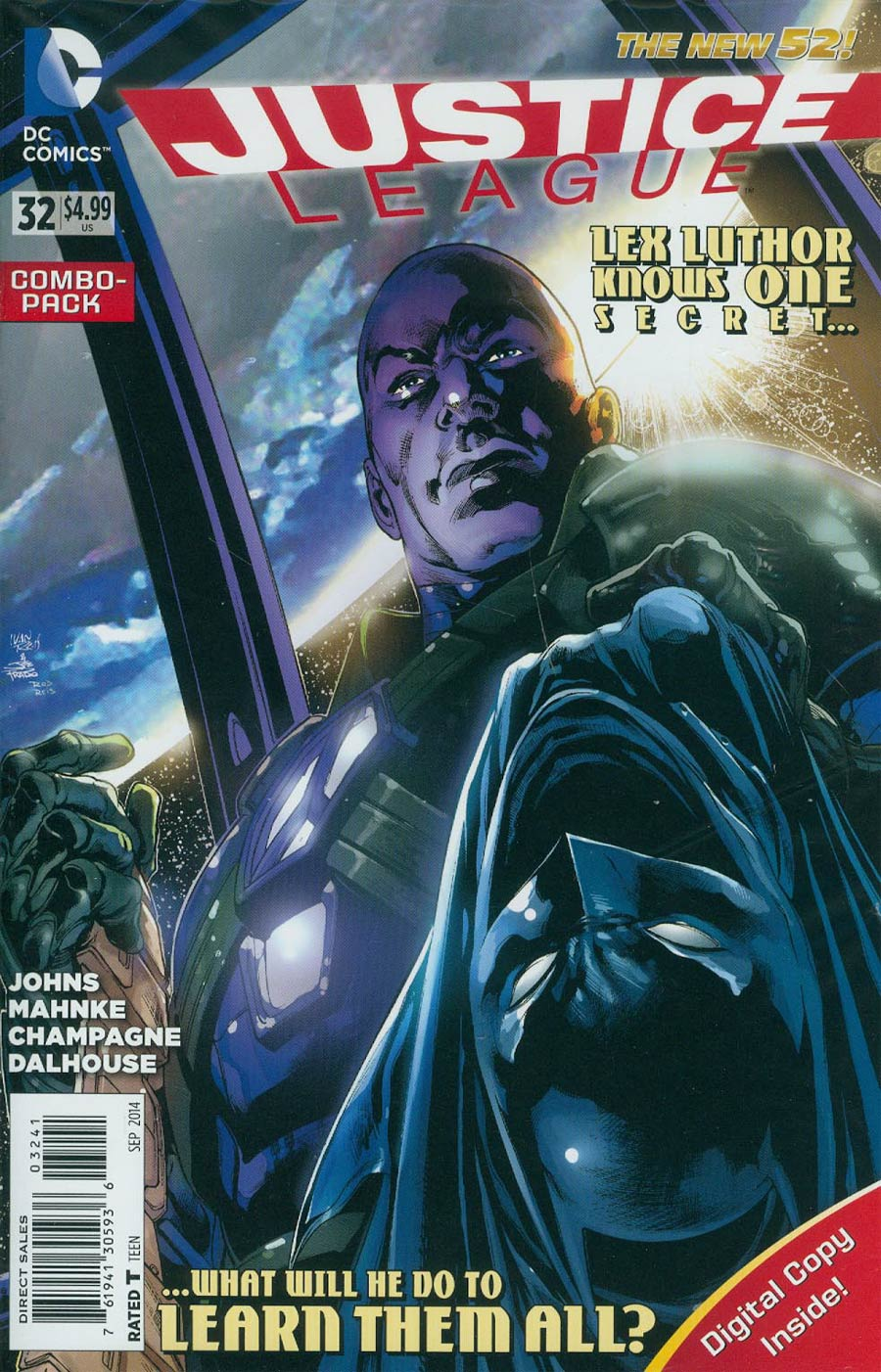 Justice League Vol 2 #32 Cover D Combo Pack Without Polybag