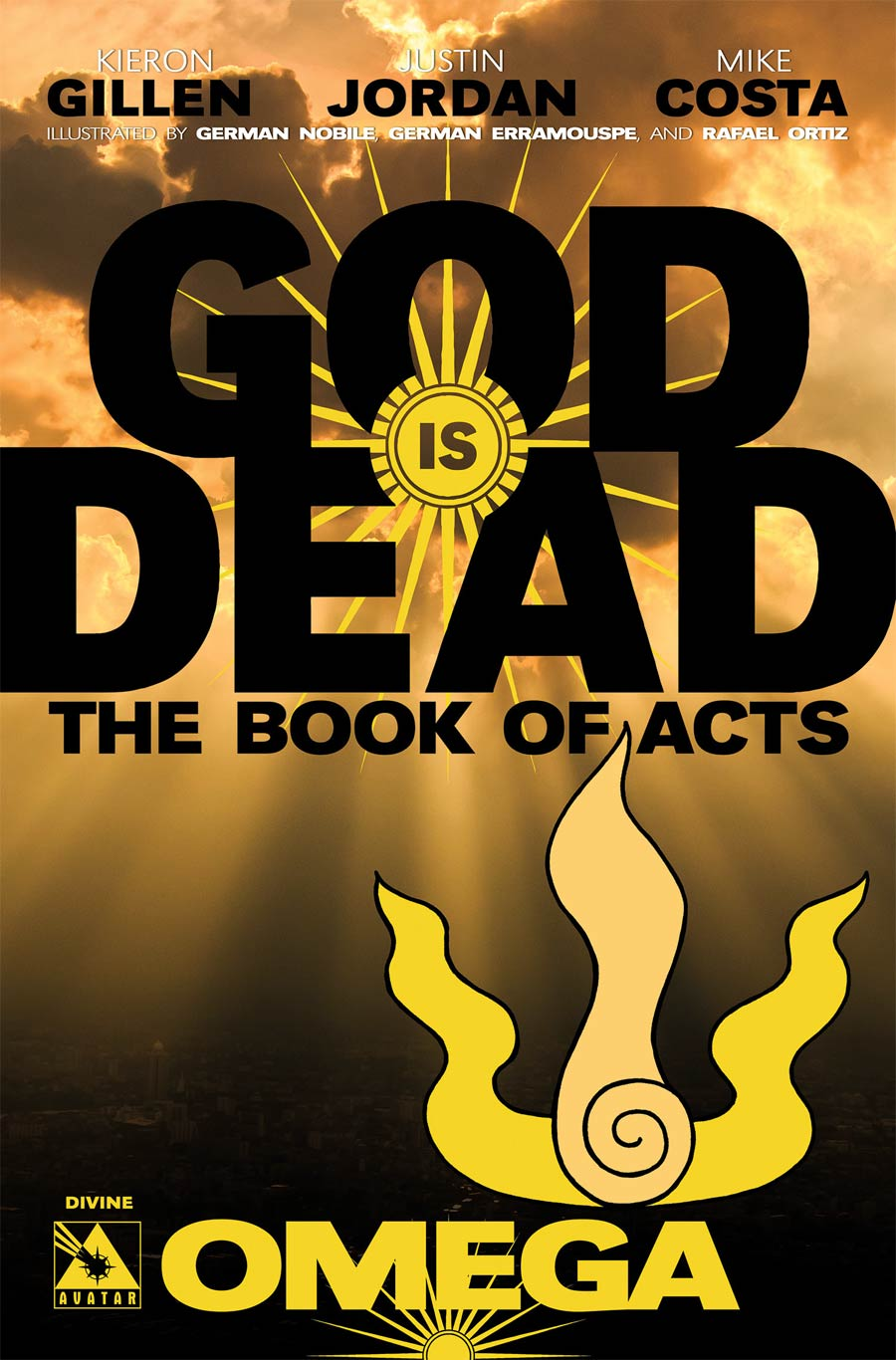 God Is Dead Book Of Acts Omega Cover E Incentive Divine Cover