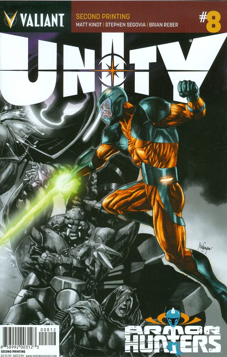 Unity Vol 2 #8 Cover F 2nd Ptg Mico Suayan Variant Cover (Armor Hunters Tie-In)