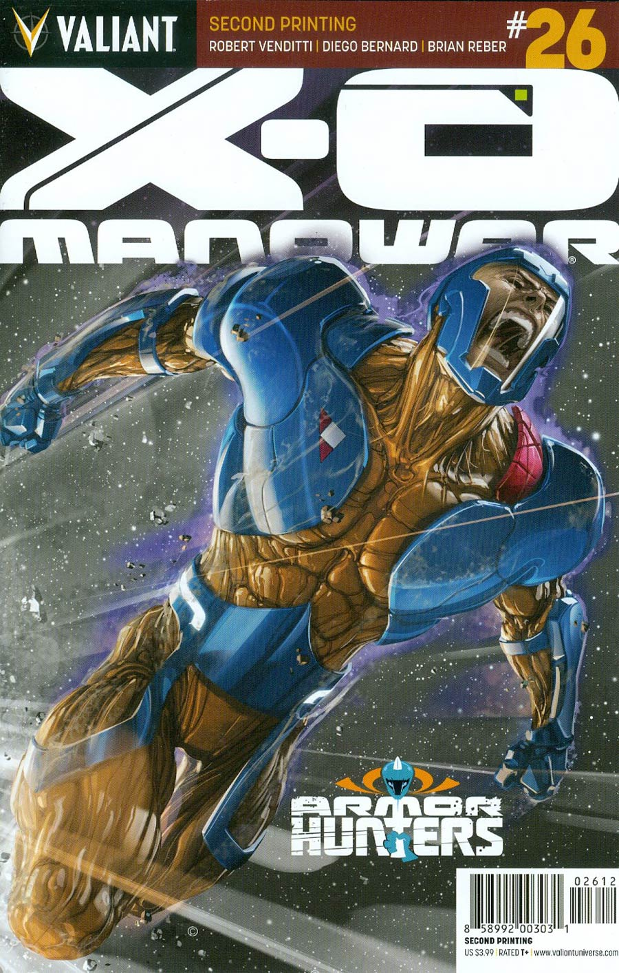 X-O Manowar Vol 3 #26 Cover F 2nd Ptg Clayton Crain Variant Cover (Armor Hunters Tie-In)