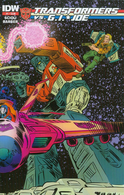 Transformers vs GI Joe #1 Cover E 2nd Ptg Tom Scioli Cover