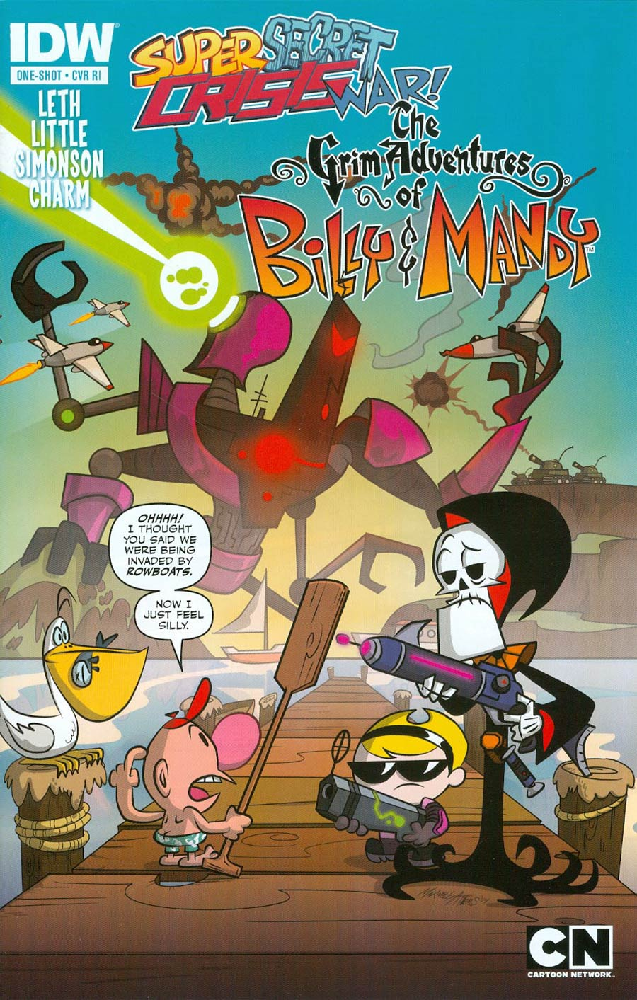 Super Secret Crisis War Grim Adventures Of Billy & Mandy #1 Cover C Incentive Maxwell Atoms Variant Cover