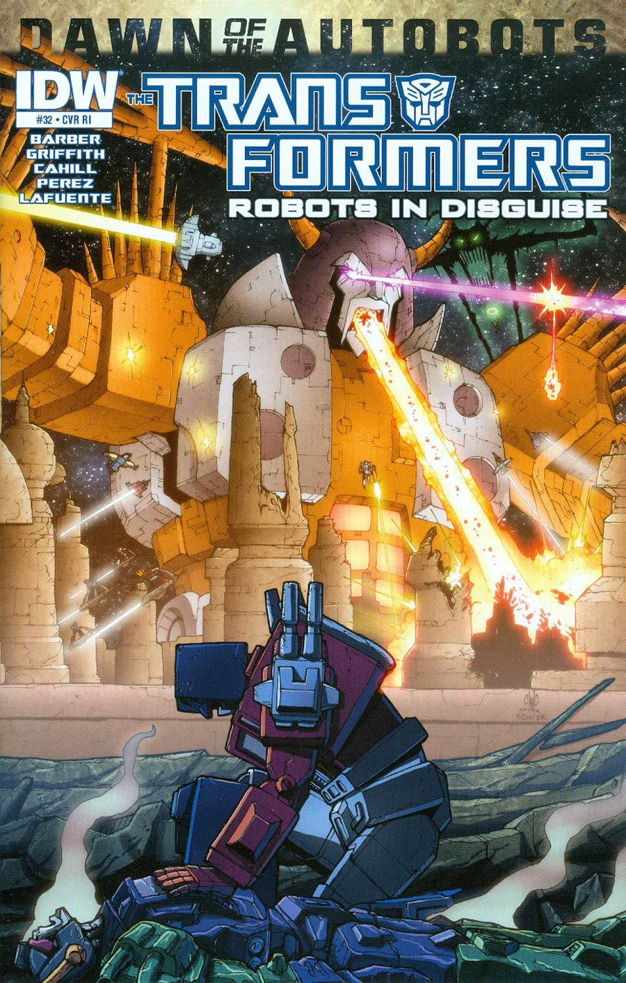 Transformers Robots In Disguise #32 Cover C Incentive Casey Coller 30th Anniversary Variant Cover (Dawn Of The Autobots Tie-In)