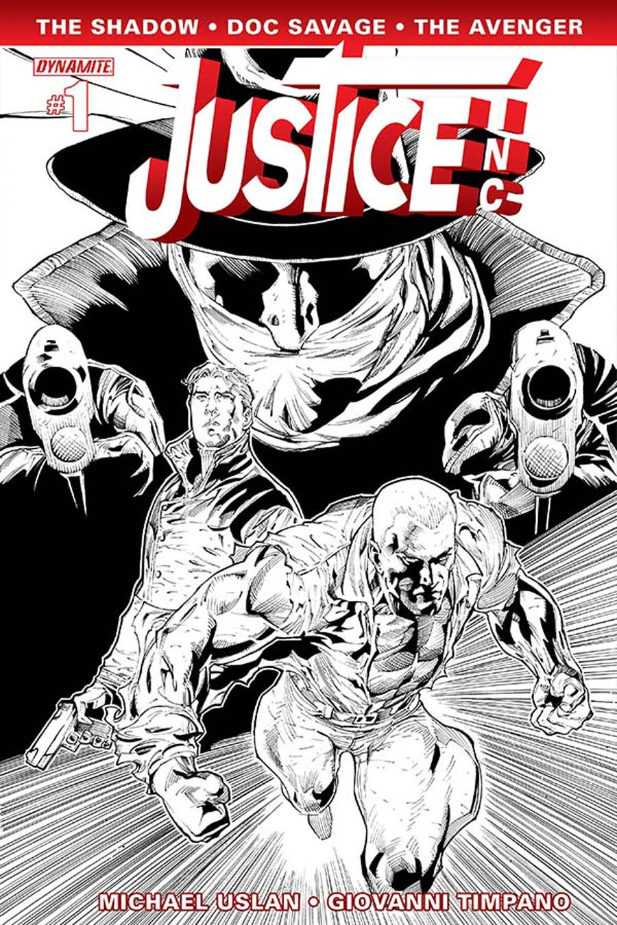 Justice Inc Vol 3 #1 Cover G Incentive Ardian Syaf Black & White Cover