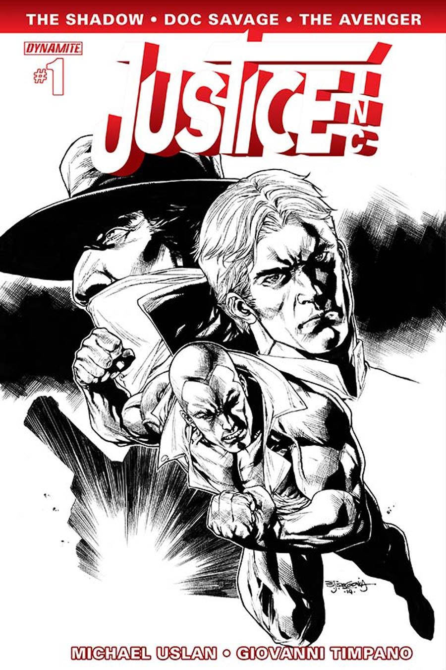 Justice Inc Vol 3 #1 Cover H Incentive Stephen Segovia Black & White Cover