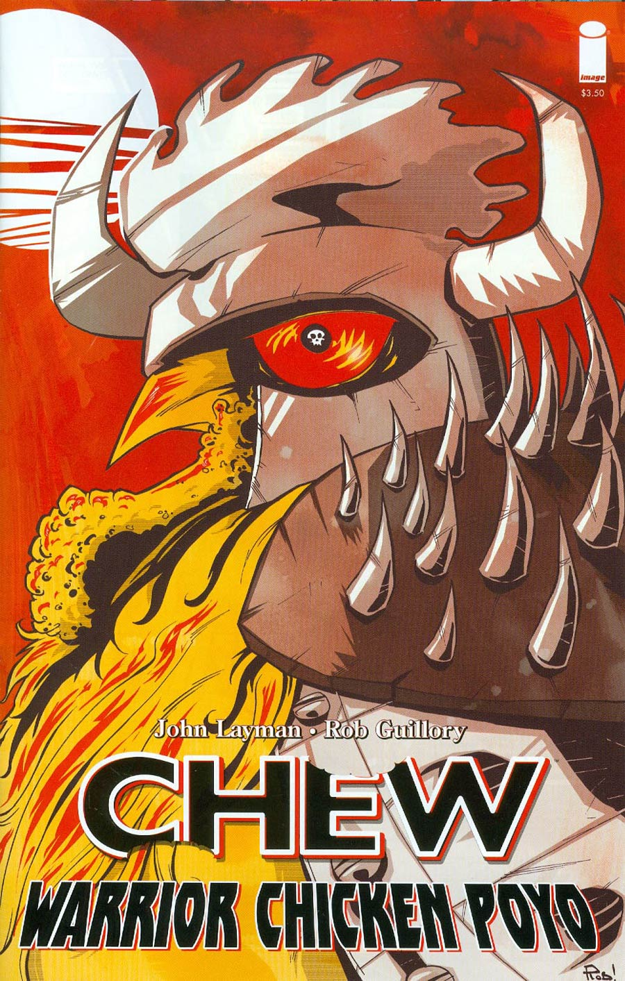 Chew Warrior Chicken Poyo #1 Cover B 2nd Ptg Rob Guillory Variant Cover