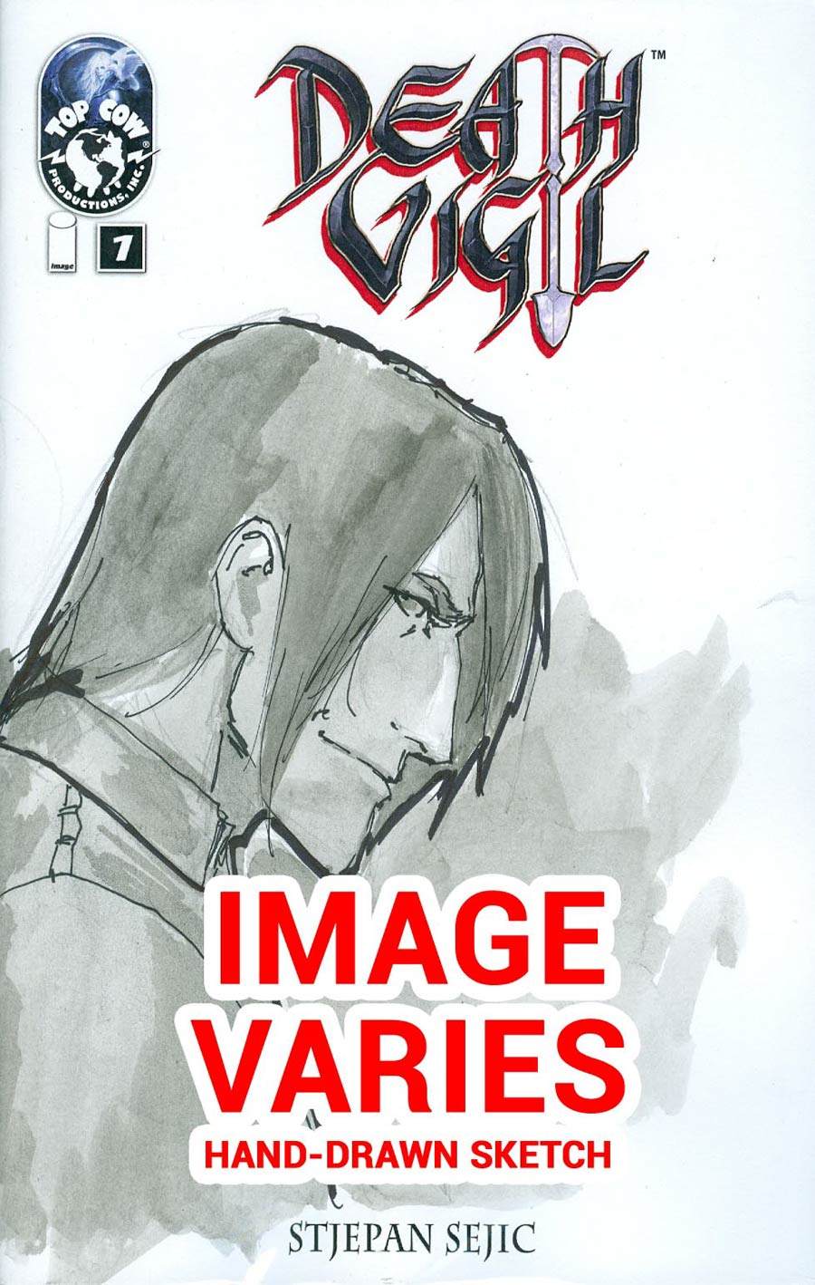 Death Vigil #1 Cover C Incentive Stjepan Sejic Hand-Drawn Sketch Variant Cover