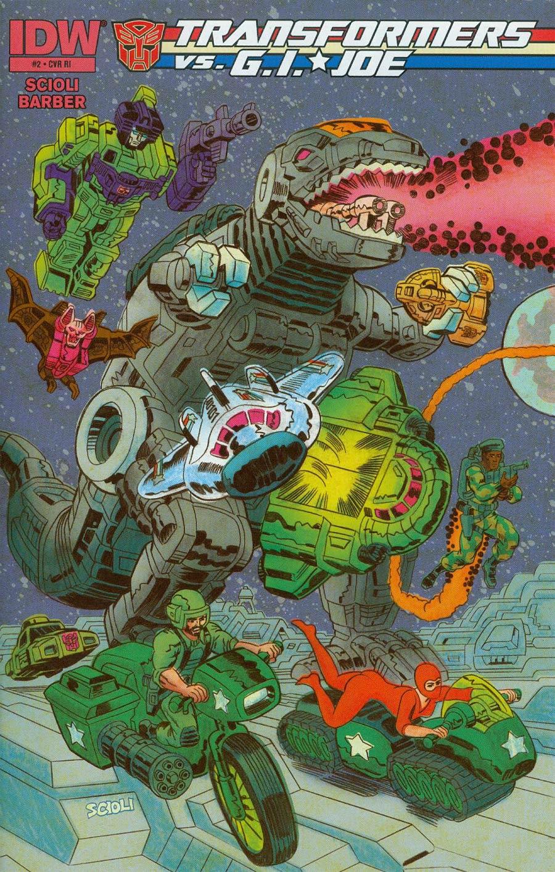 Transformers vs GI Joe #2 Cover C Incentive Tom Scioli Connecting Variant Cover (1 Of 3)
