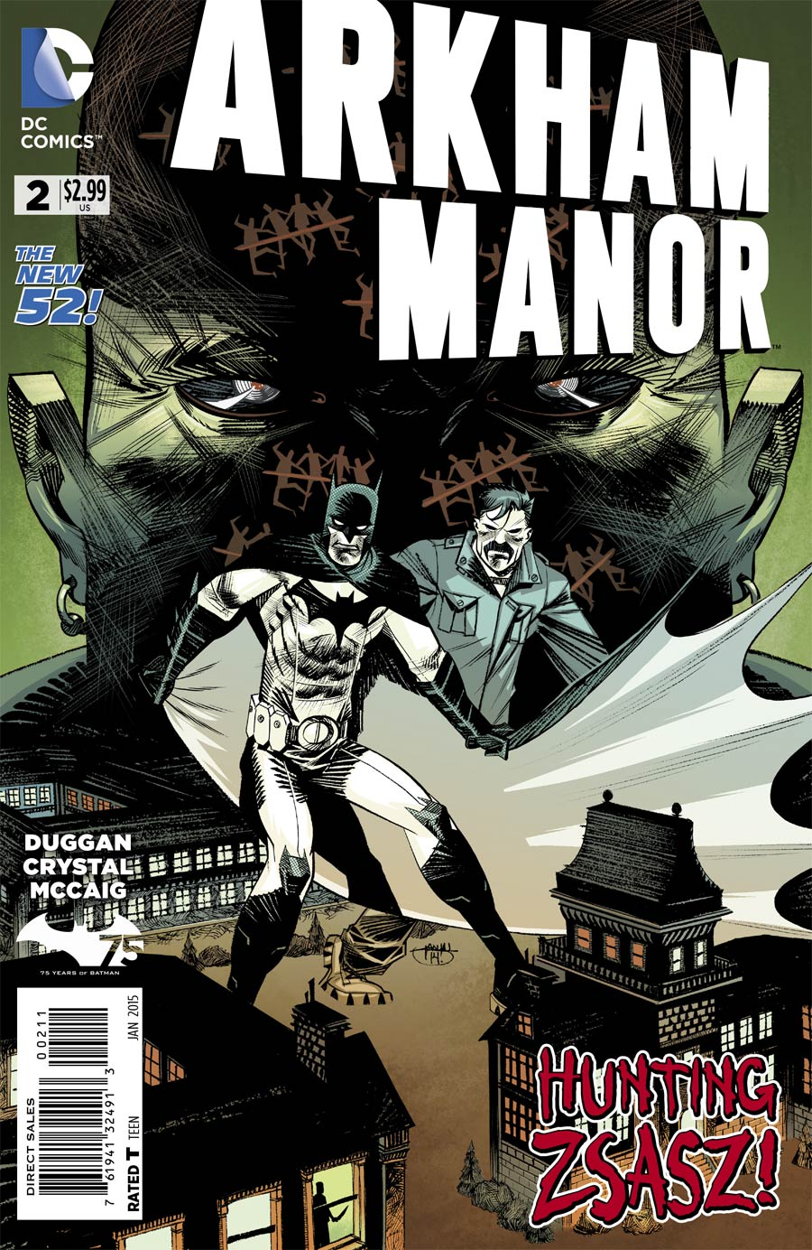 Arkham Manor #2 Cover A Regular Shawn Crystal Cover