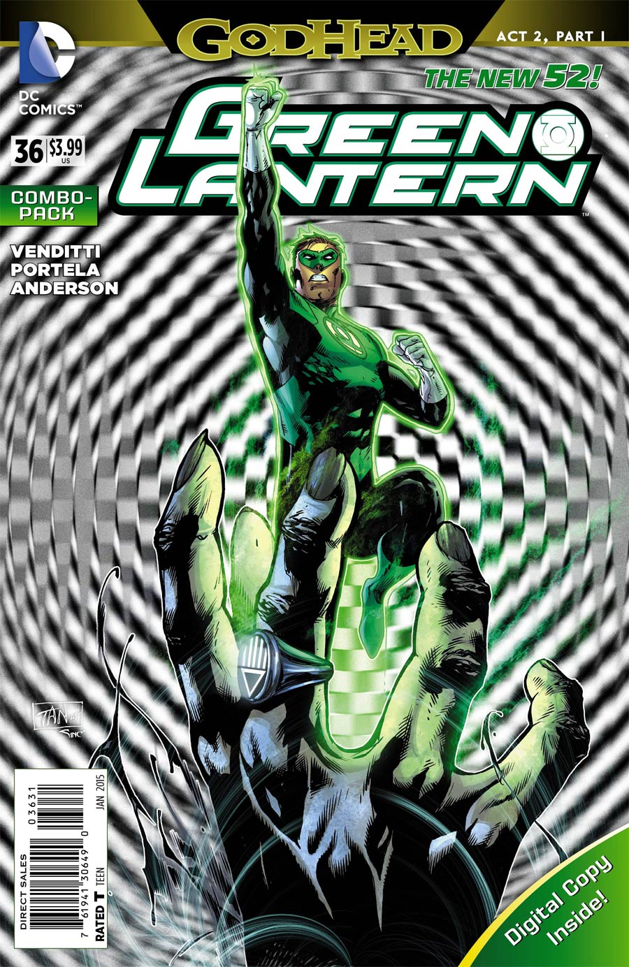 Green Lantern Vol 5 #36 Cover C Combo Pack With Polybag (Godhead Act 2 Part 1)