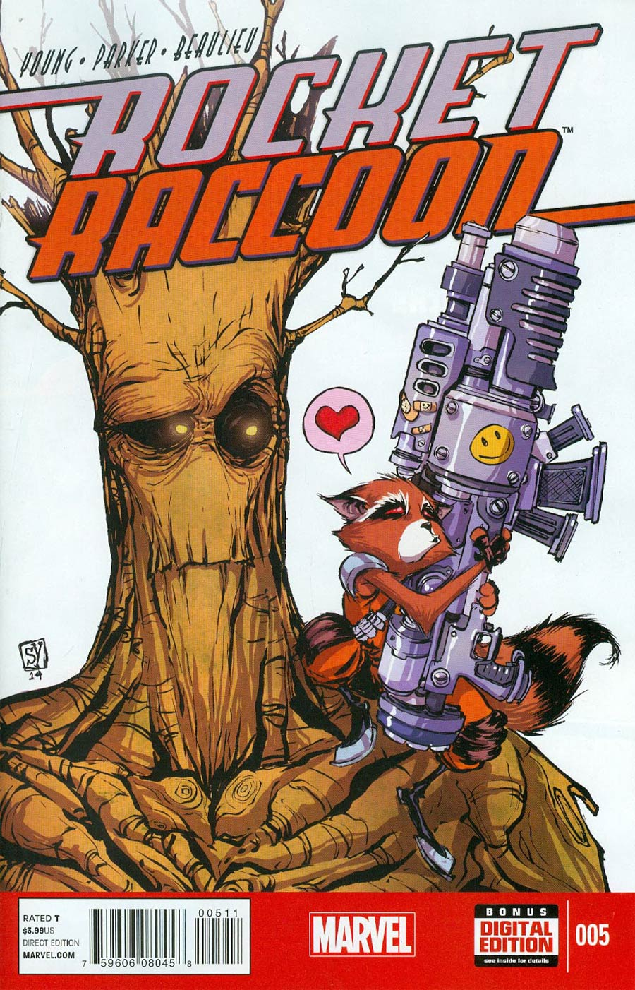 Rocket Raccoon Vol 2 #5 Cover A Regular Skottie Young Cover