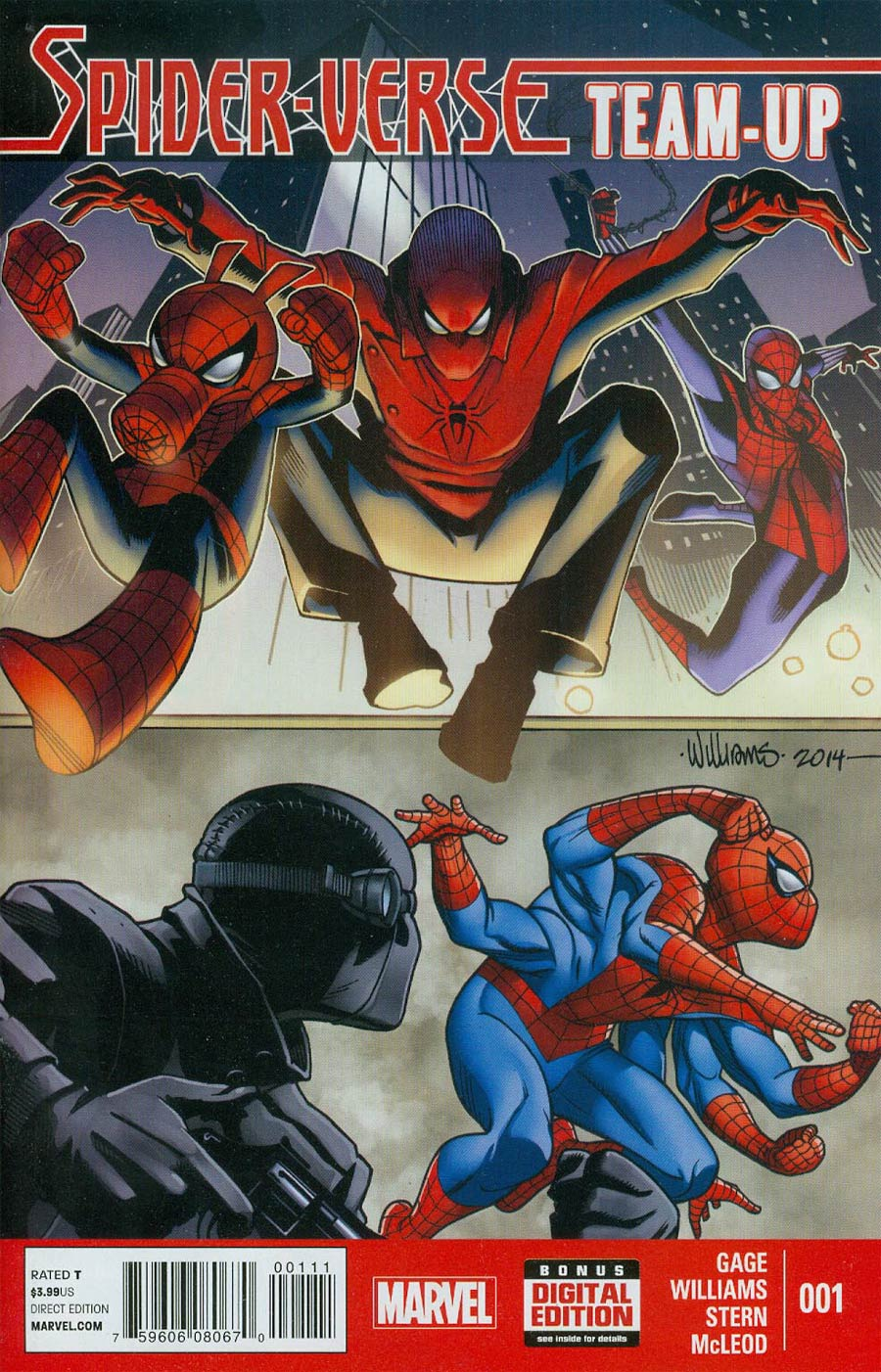 Spider-Verse Team-Up #1 Cover A Regular Dave Williams Cover
