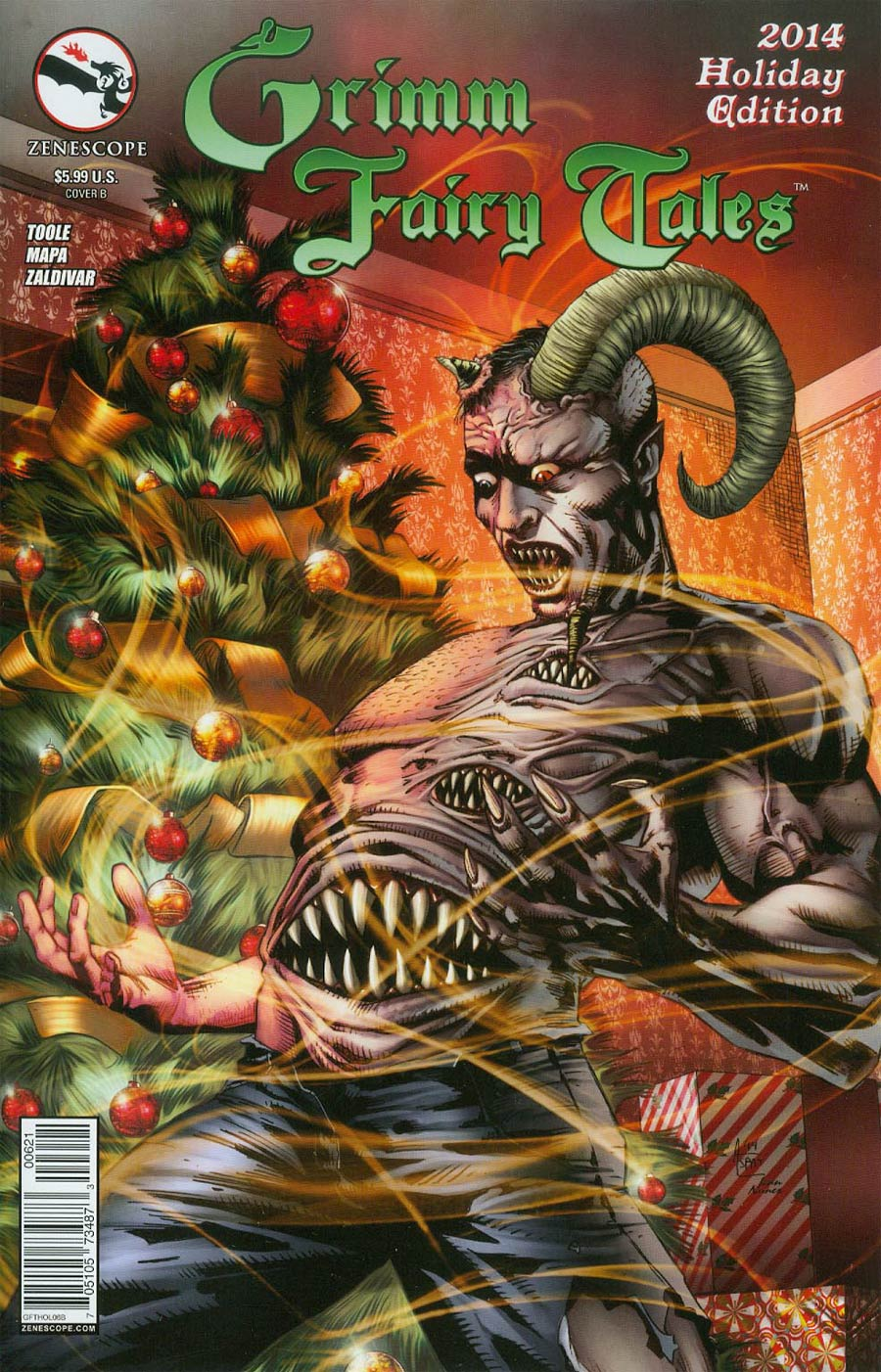 Grimm Fairy Tales 2014 Holiday Special Cover B Variant Anthony Spay Cover