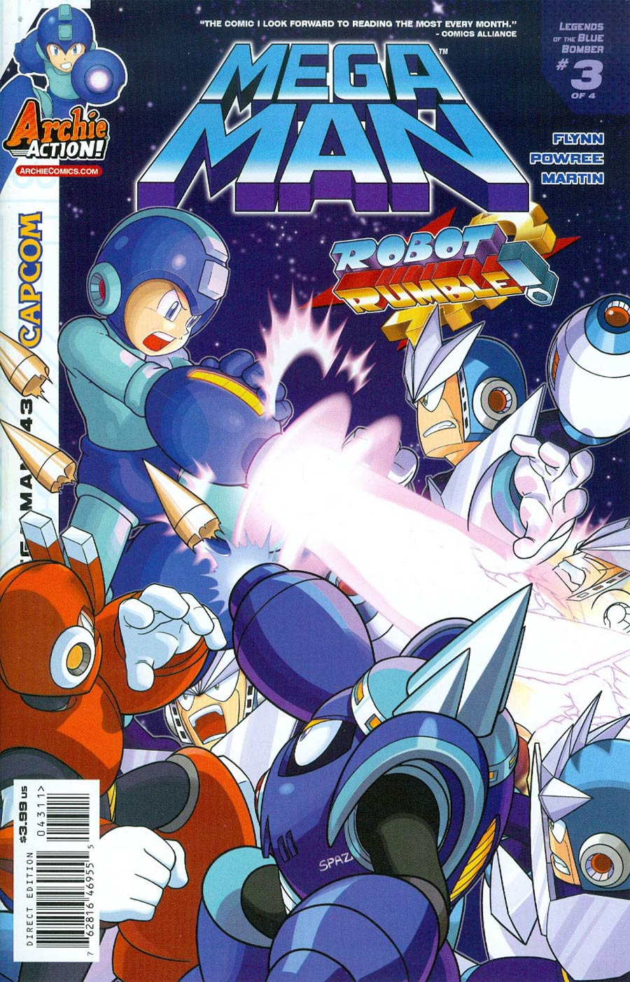 Mega Man Vol 2 #43 Cover A Regular Patrick Spaz Spaziante Cover