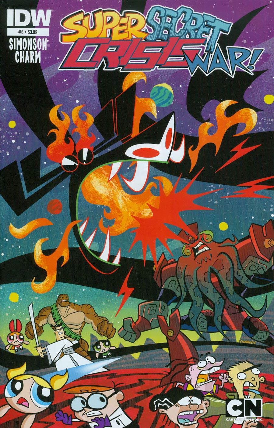Cartoon Network Super Secret Crisis War #6 Cover A Regular Derek Charm Cover