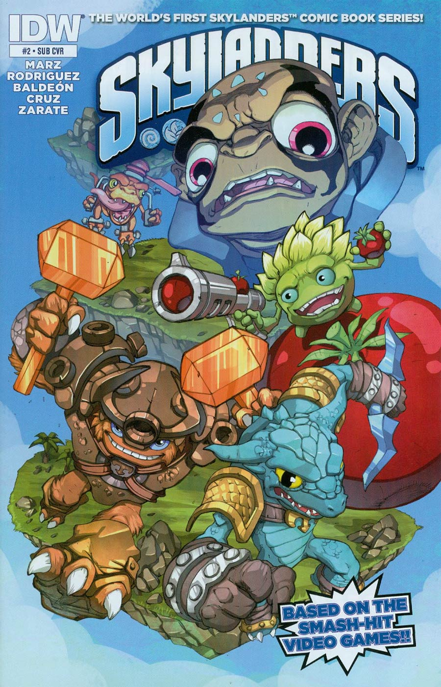 Skylanders #2 Cover B Variant Mike Bowden Subscription Cover