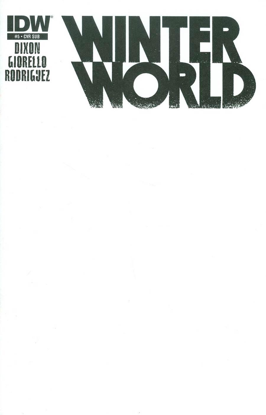 Winterworld Vol 2 #5 Cover B Variant Blank Subscription Cover