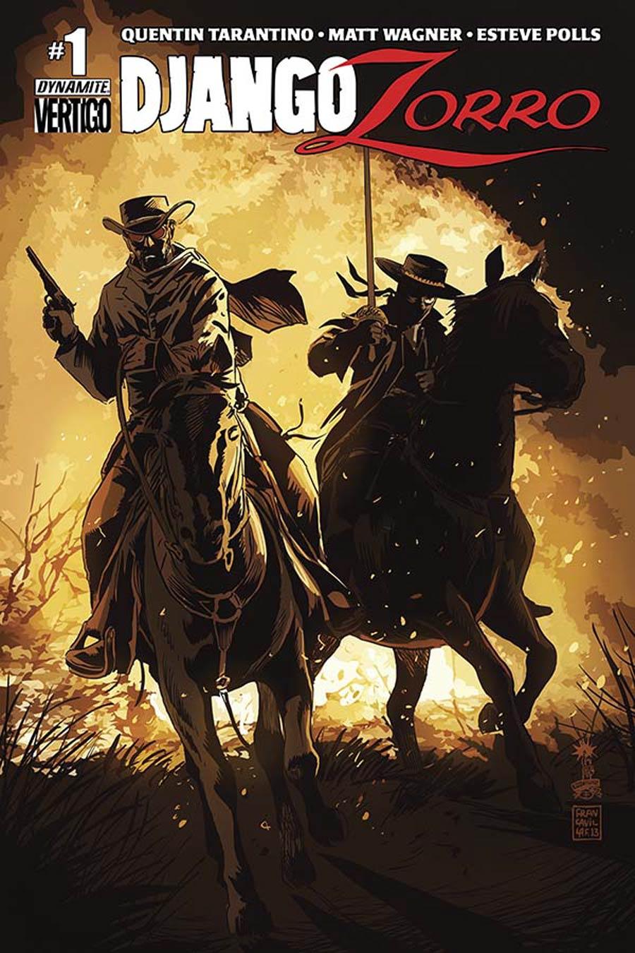 Django Zorro #1 Cover B Variant Francesco Francavilla Cover