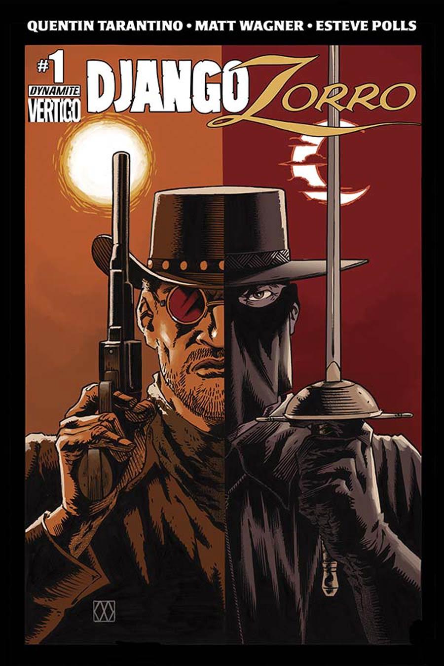 Django Zorro #1 Cover C Variant Matt Wagner Subscription Cover