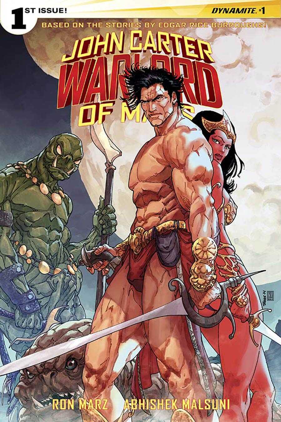 John Carter Warlord Of Mars Vol 2 #1 Cover B Variant Bart Sears Cover