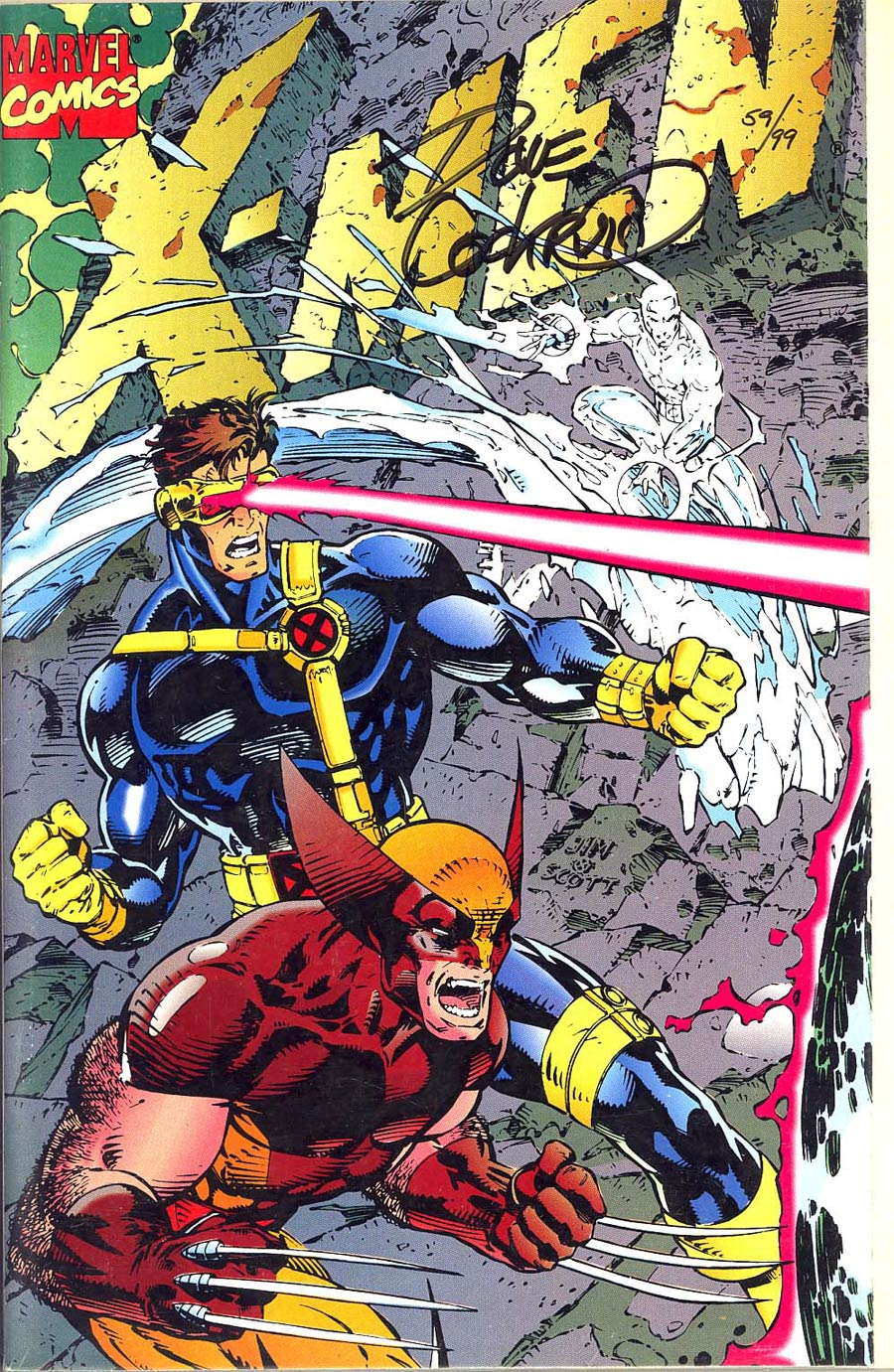 X-Men Vol 2 #1 Cover F Fold-Out Signed Dave Cockrum DF