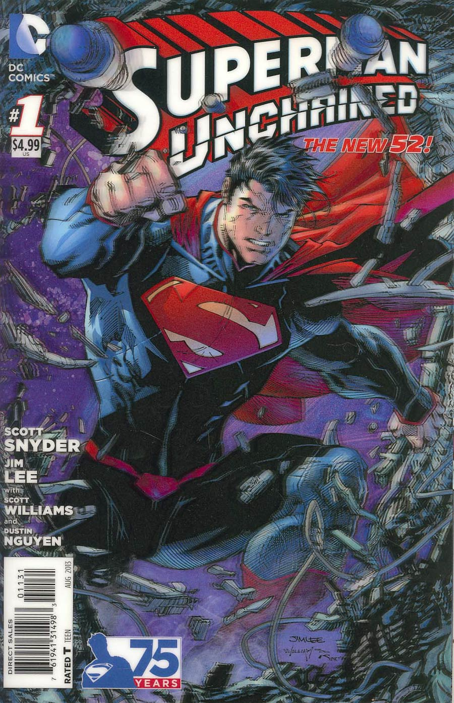 Superman Unchained #1 Cover N 3D Motion Cover