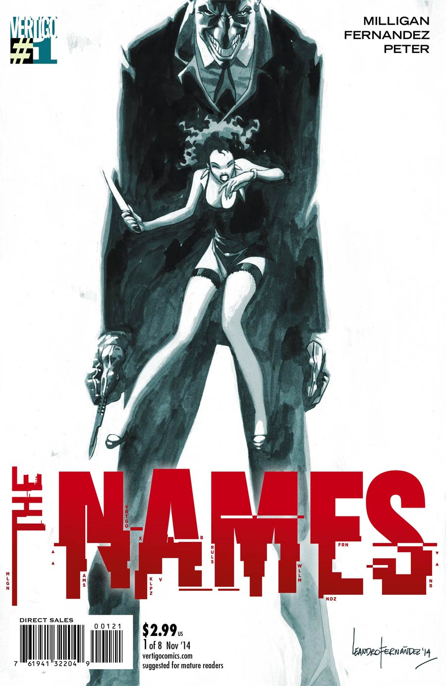 Names #1 Cover B Incentive Leandro Fernandez Variant Cover