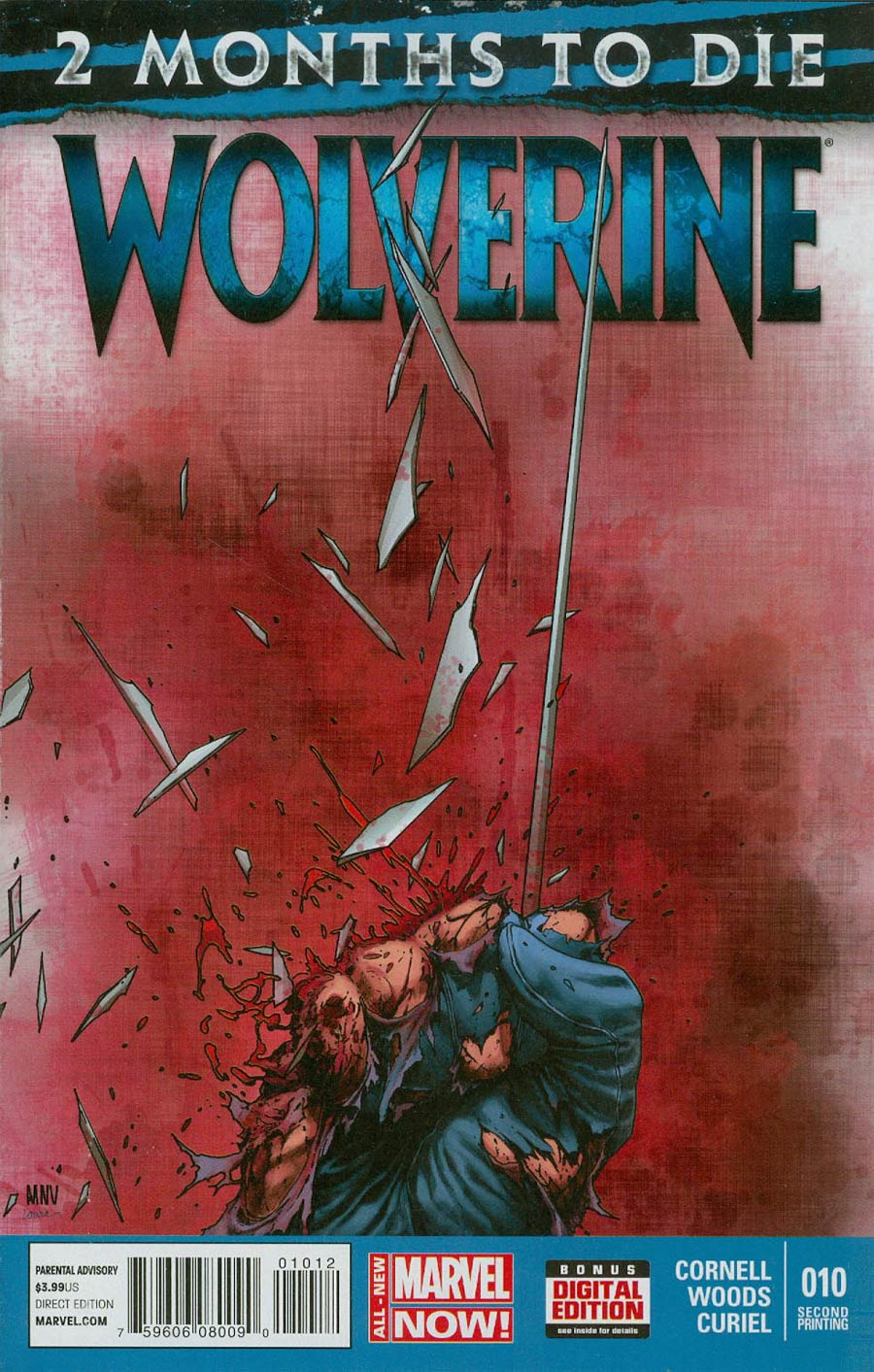 Wolverine Vol 6 #10 Cover C 2nd Ptg Steve McNiven Variant Cover (3 Months To Die Part 3)
