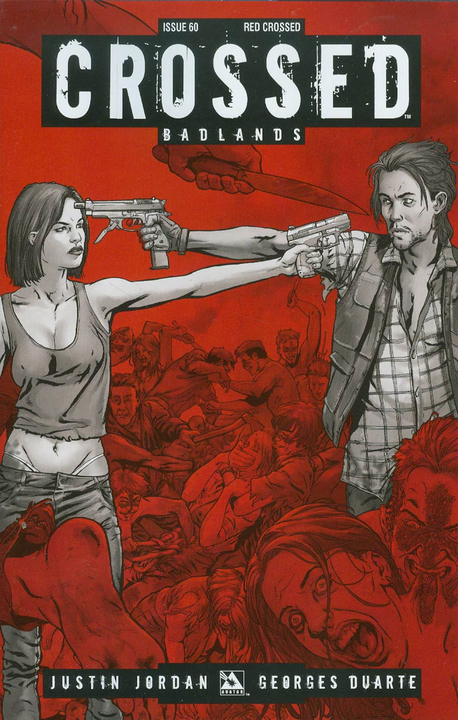 Crossed Badlands #60 Cover E Incentive Red Crossed Edition