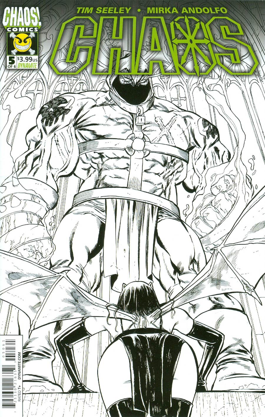 Chaos #5 Cover G Incentive Tim Seeley Black & White Cover
